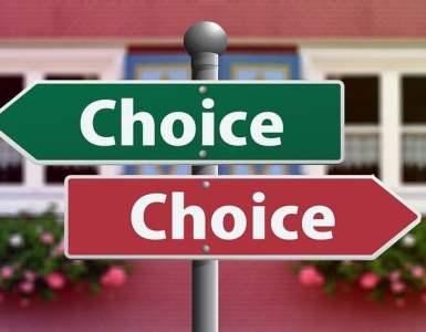 choice, select, decide