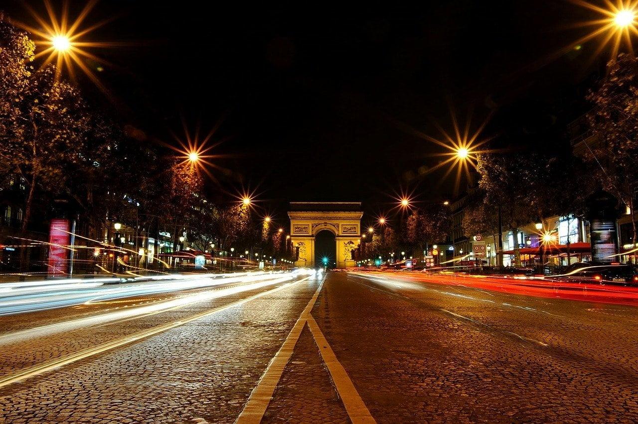 paris, the arc de triomphe, monument