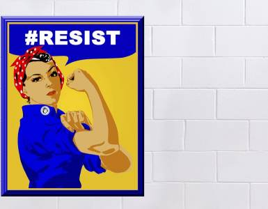 rosie the riveter, poster, sign