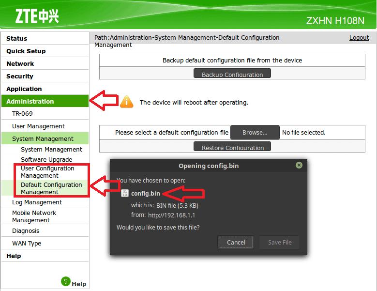 ZXHN H108N Router Web-Shell and Secrets | Jalal Sela