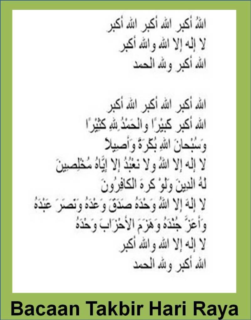 Takbir Idul Fitri Lengkap : takbir, fitri, lengkap, Bacaan, Takbir, Lengkap, Nusagates