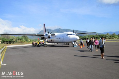 Pesawat Trans Nusa sukses mendarat di Larantuka