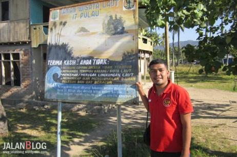 Selamat datang di taman wisata laut 17 pulau