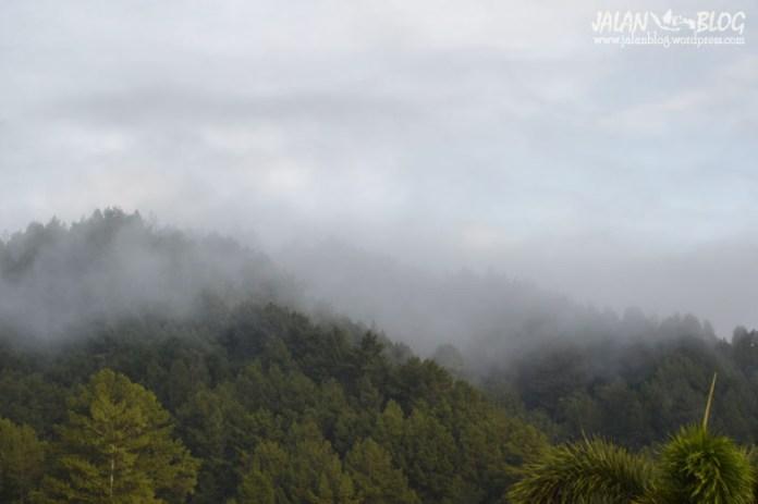 Kabut tebal di TNKS
