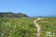 Jalan menuju pantai