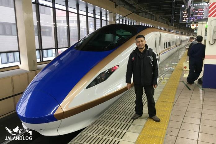 Naik Shinkansen lagi...