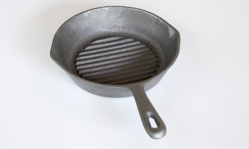 Skillet Cast iron Ribbed 265mm Round