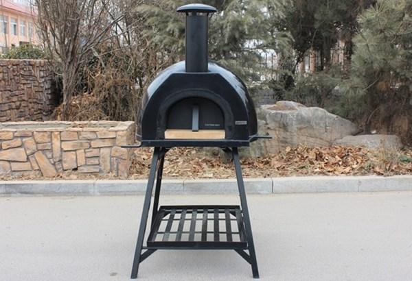 JA70 Black Fibreglass wood fired pizza oven