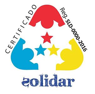 SOLIDAR (asociación sin ánimo de lucro empresarios solidarios- Aragón). La Certificación Solidar tiene por objeto acreditar a su titular como Empresa o Profesional socialmente Responsable por su gestión para favorecer la inserción laboral de personas con discapacidad, cumpliendo o superando los requisitos establecidos en la actual normativa.