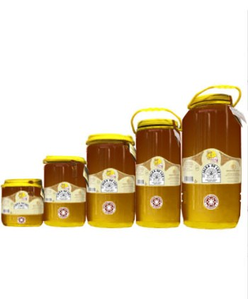 Miel cruda de Retama en garrafa