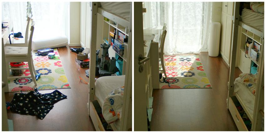 Was so ein freier Fußboden in einem Zimmer denn ausmachen kann. Das Zimmer sieht gleich aufgeräumter aus