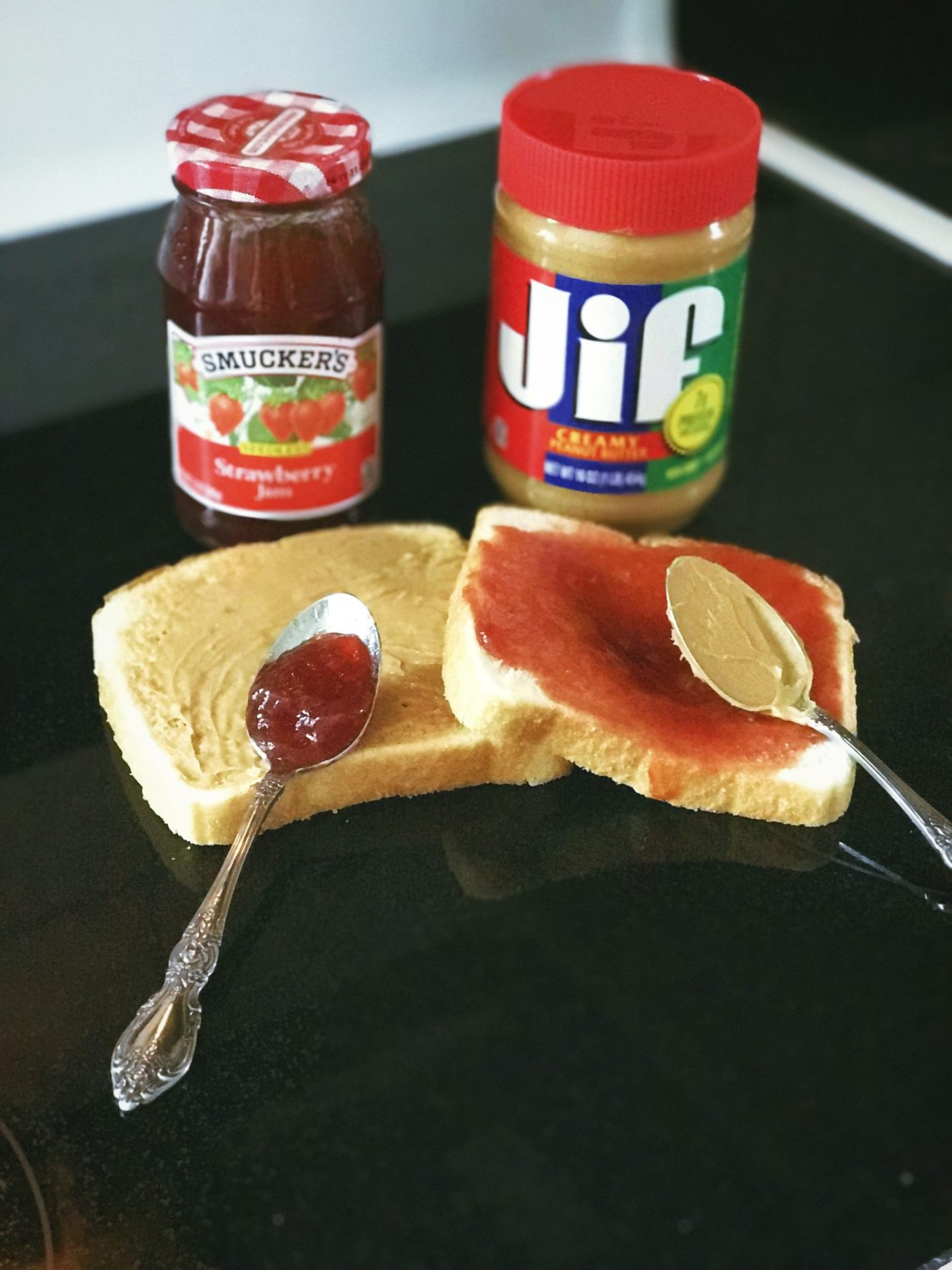 Always use a spoon when applying Jif and Smucker's