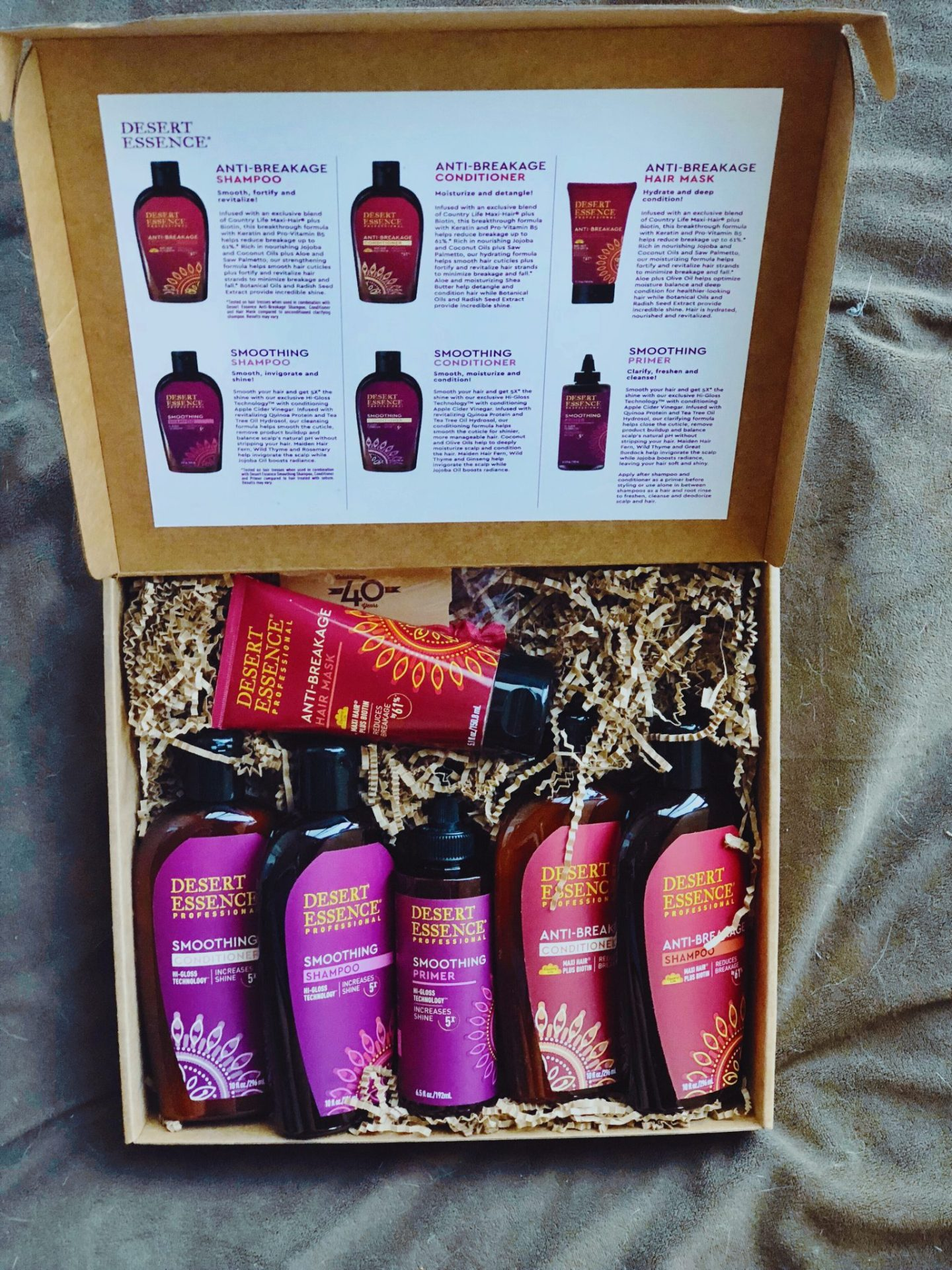 Desert Essence Hair Products Line