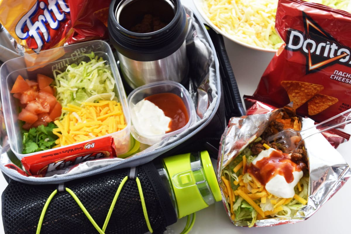 Ideal Lunchbox walking tacos