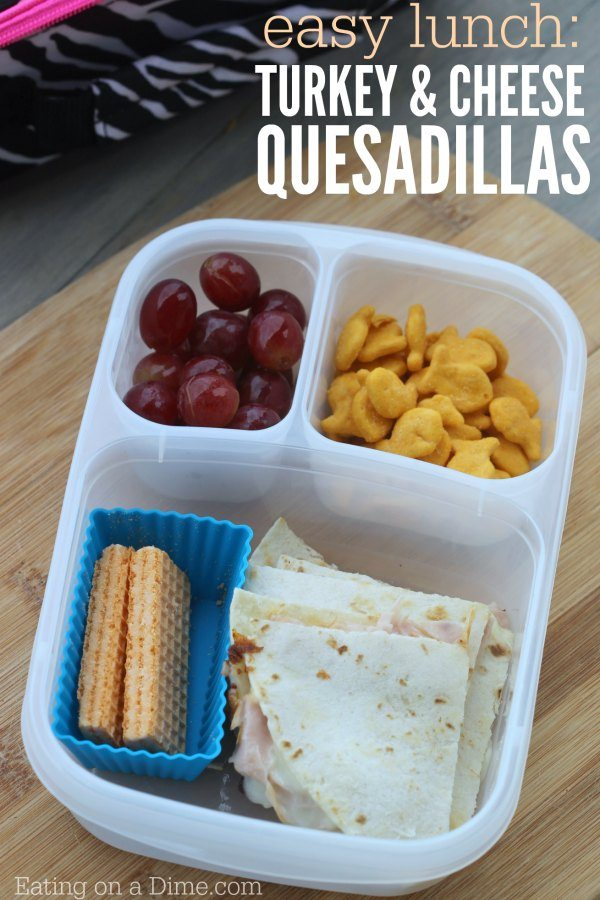 Ideal turkey cheese quesadillas
