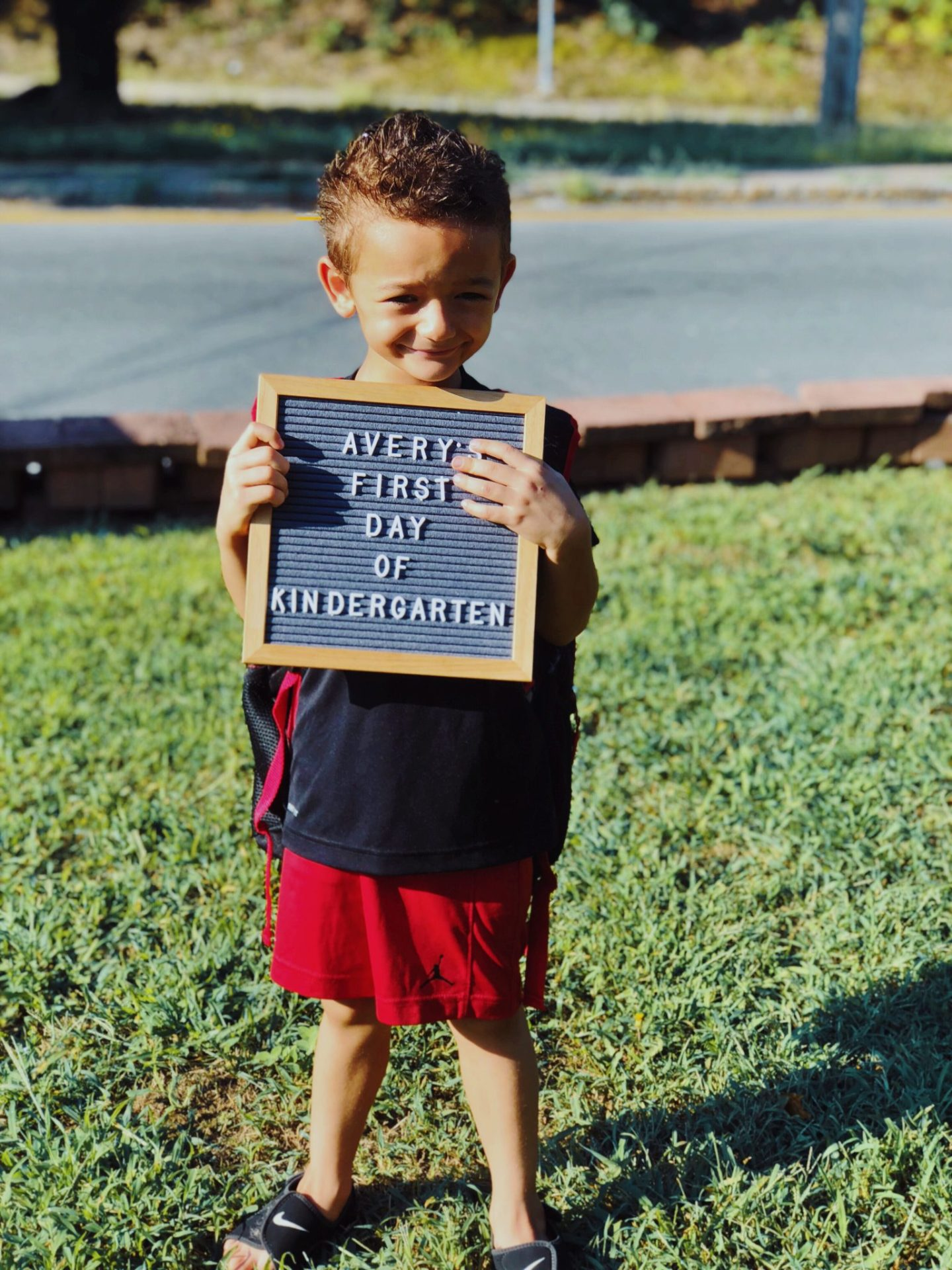 First Day Of Kindergarten Letterboard