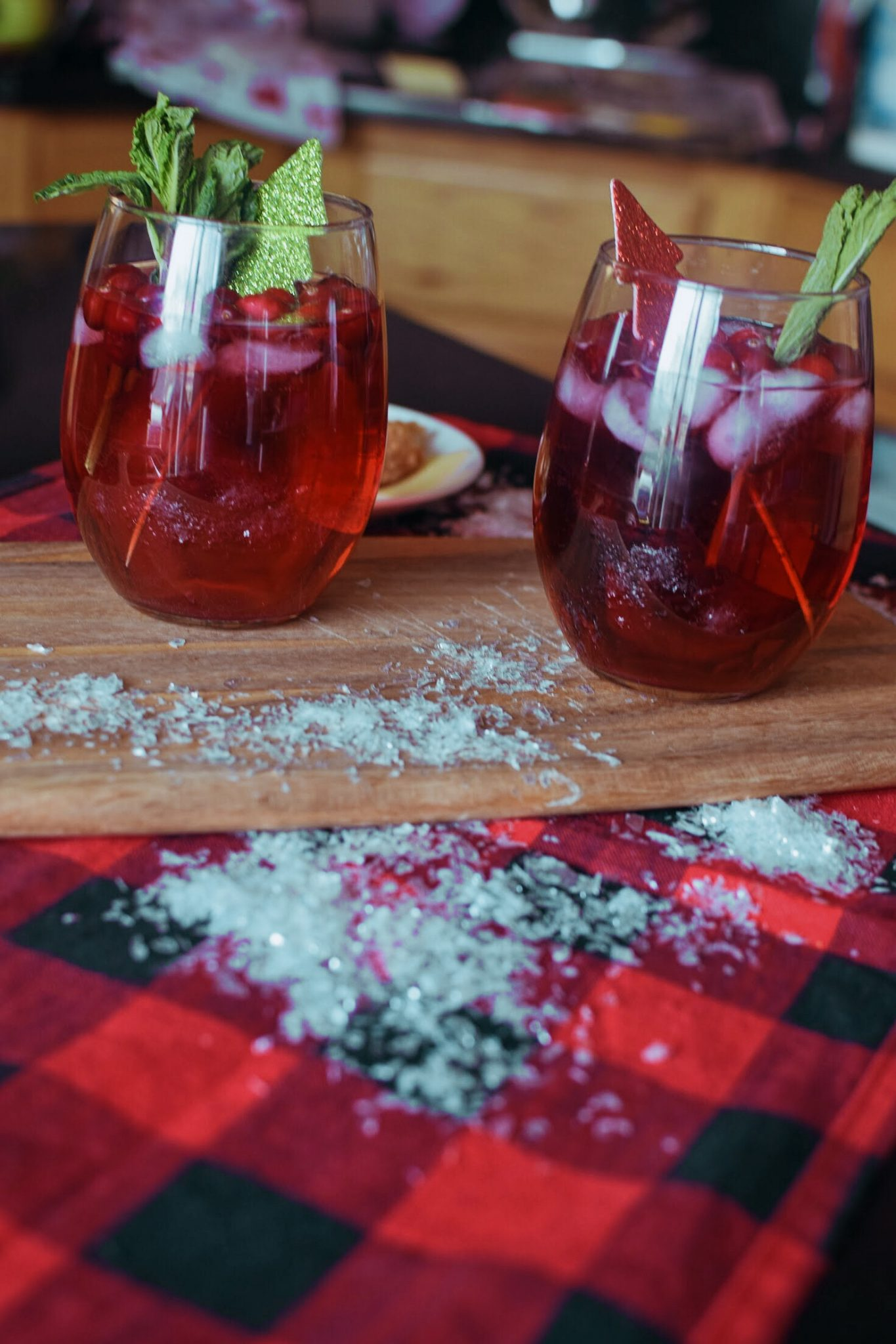 holiday red wine spritzer