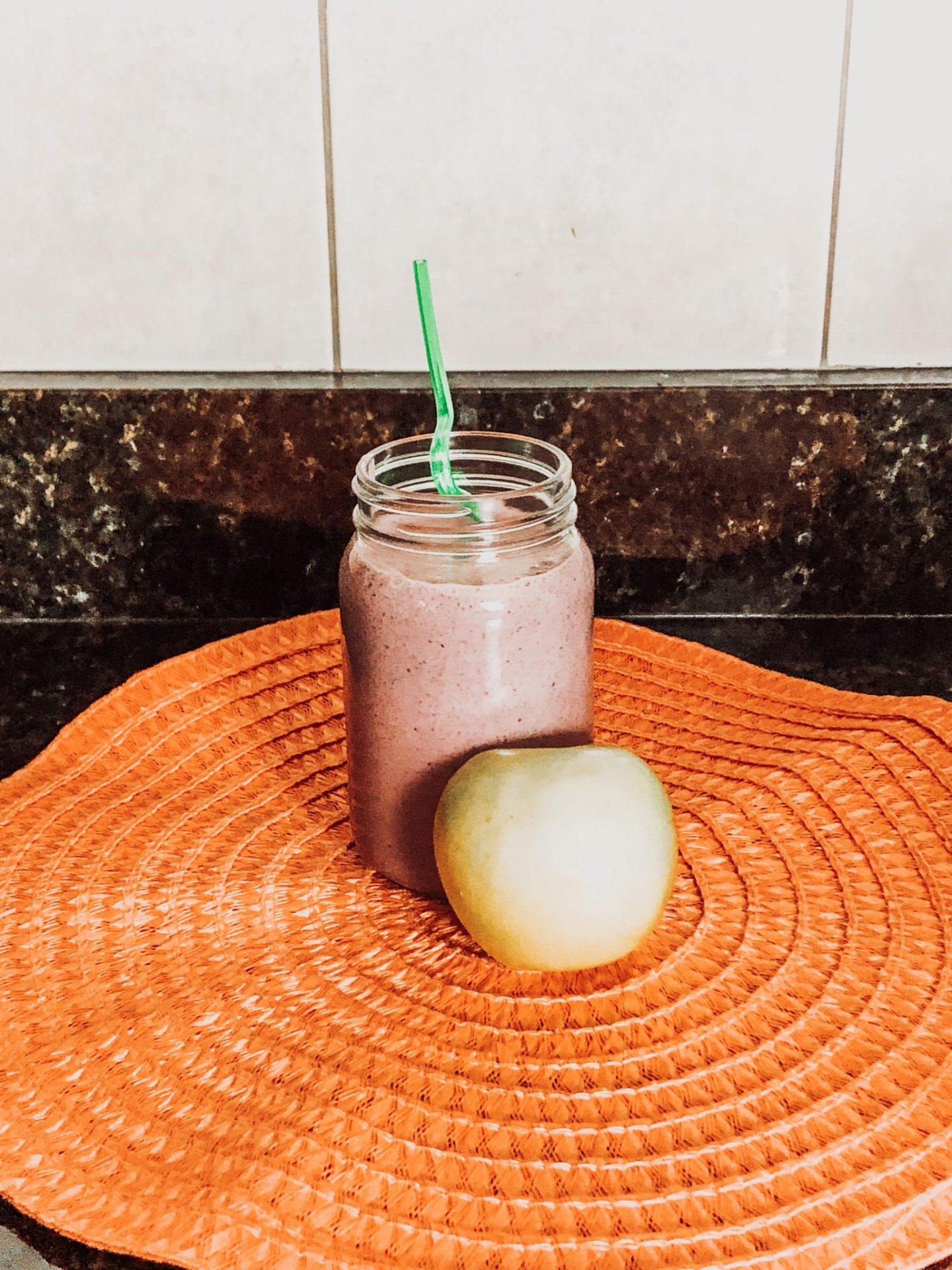 protein berry apple smoothie