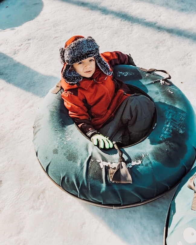 12 things to do this Winter with ADHD kids snow tubing pin