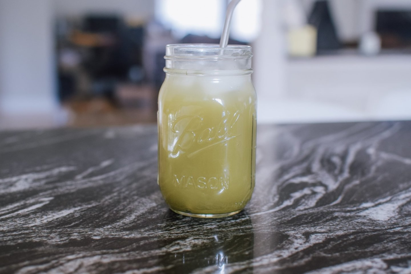 Simple Homemade Iced Matcha Tea Lemonade