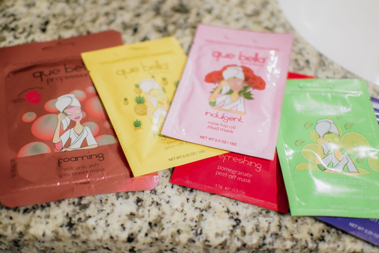 Summer Clean Que Bella Face Masks