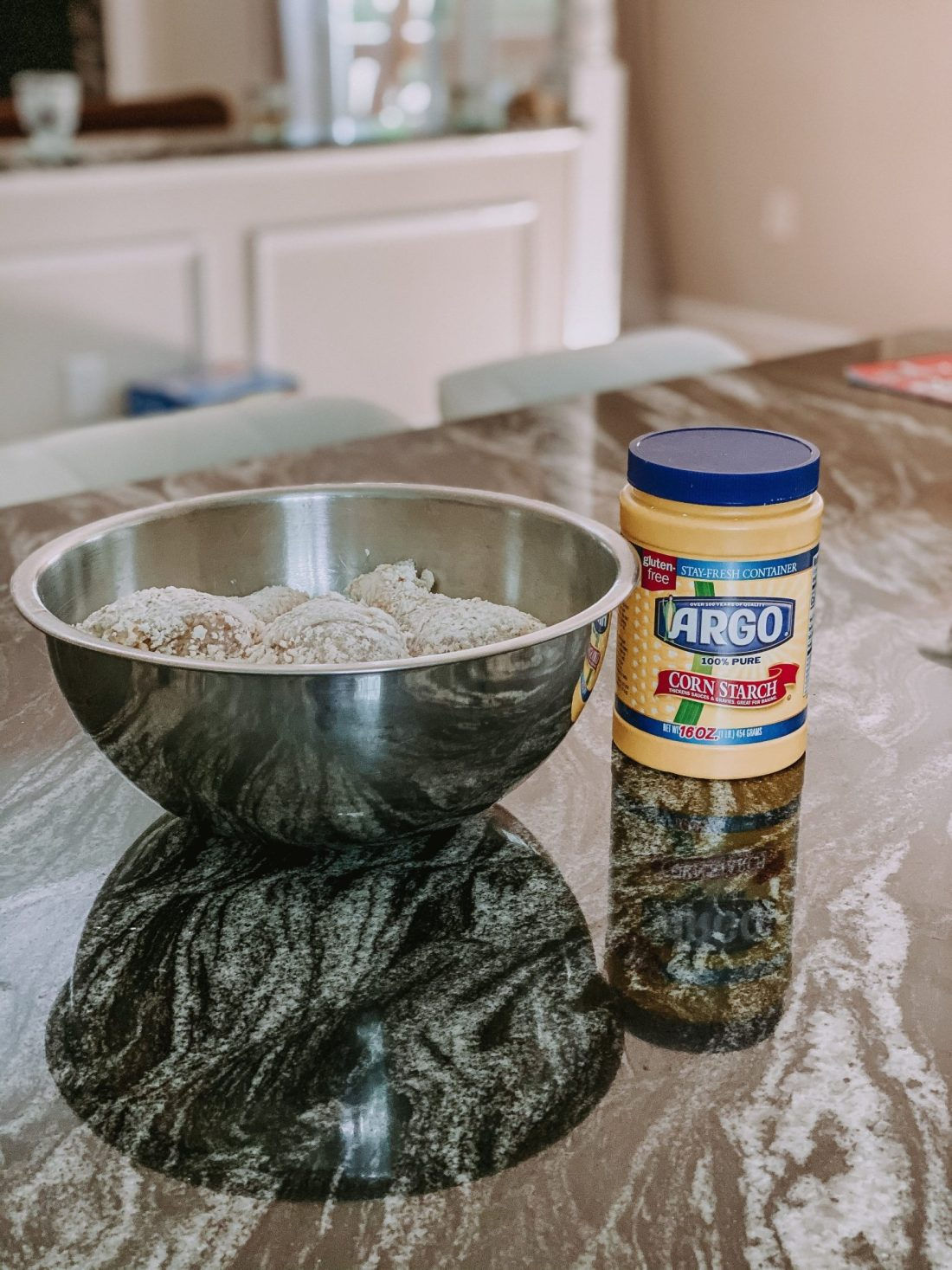 Use Argo Corn Starch for a coated crispy chicken