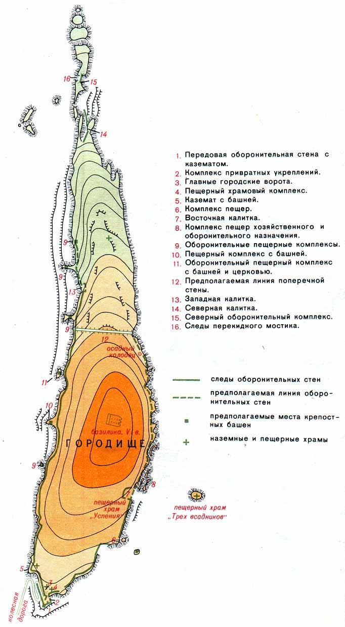 Карта Эски-Кермен