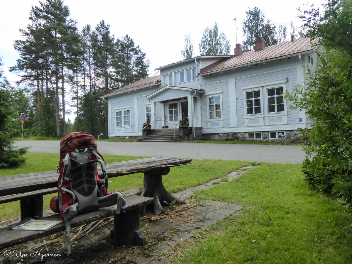 Evokeskuksen vanha päärakennus.