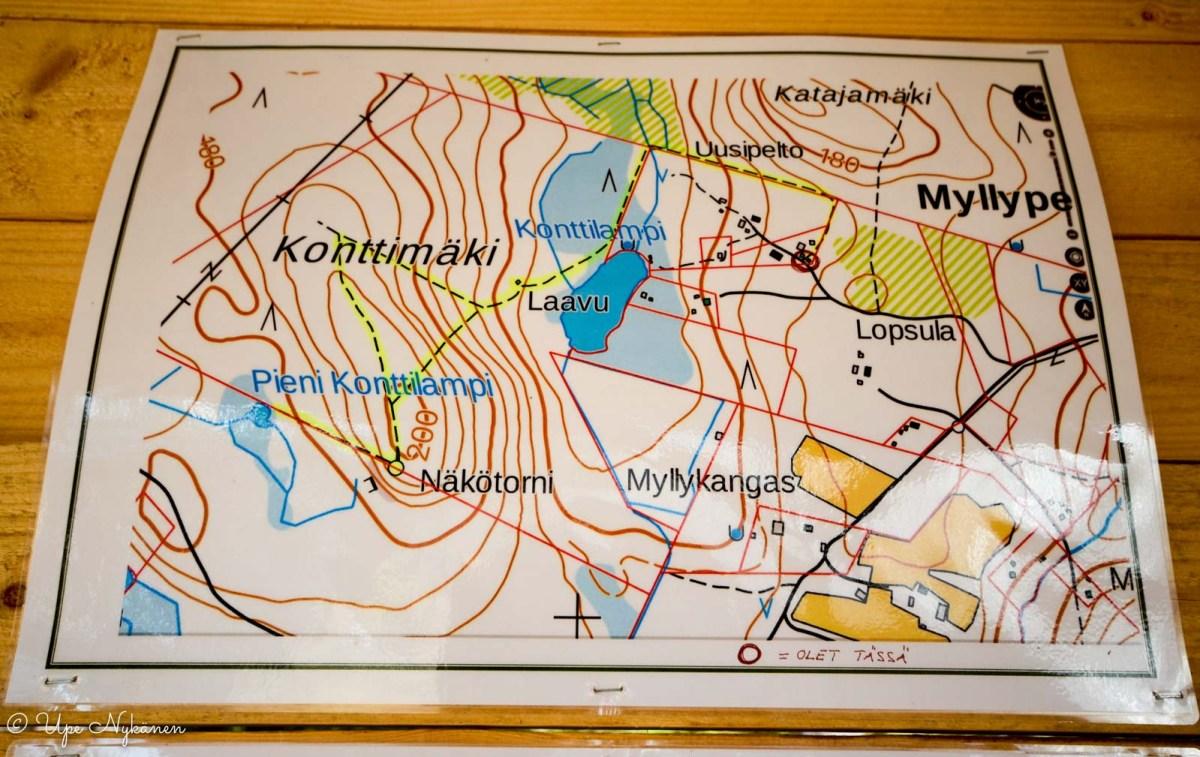 Luontopolku Kontionjälki, kartta.