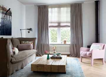 Gardinen Wohnzimmer Streifen