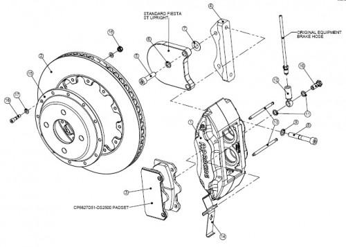ST-150 AP Racing 4 pot brake kit Jam Sport Performance Car