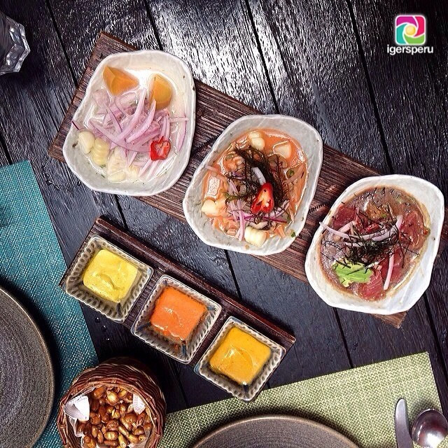 Trés ceviches + trés salsas + canchita = Perfección en #Lahoradelalmuerzo de los #igersperu gracias a @shovloves desde La Mar en Miraflores . - See more at: http://jama.pe/comida-peruana/los-mejores-almuerzos-de-febrero-en-igersperu/#sthash.fbLY5Kc6.dpuf
