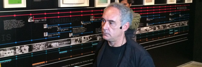 """La muestra """"Auditando el proceso creativo"""" de Ferran Adriá en Lima"""