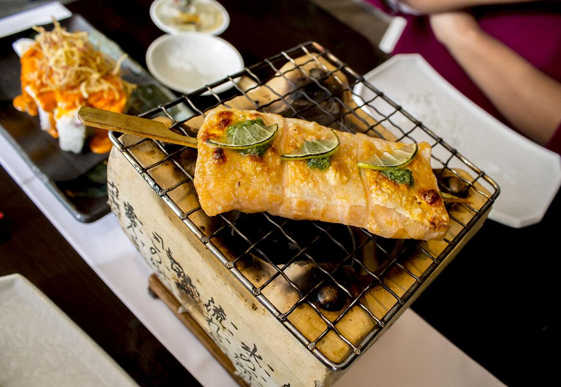 Kushiyaki de salmon