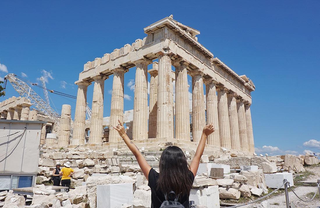 Viajar sola a Grecia: 2 días a full en Atenas