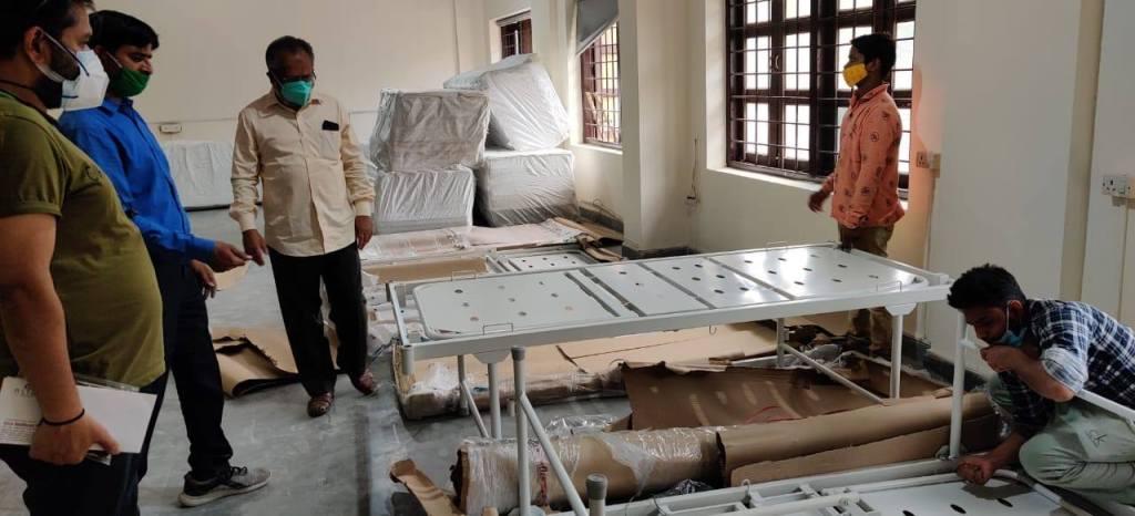 Mr. Arif Ali inspecting COVID centre