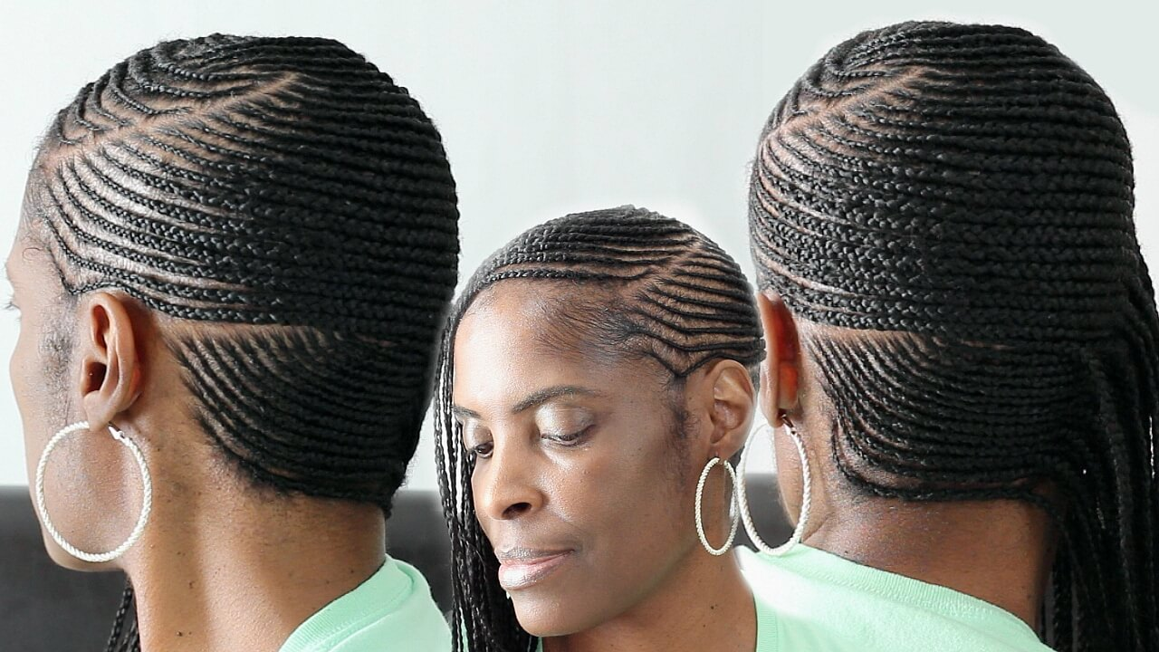 Small Cornrows Going Back Jamaican Hairstyles Blog