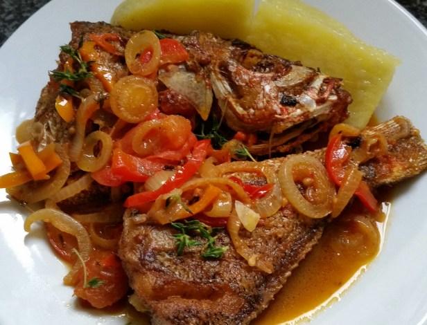 Brown stew Fish