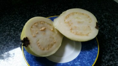 Guava cut in two