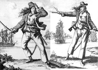 Mary Read and Anne Bonny, female pirates and two of Calico Jack's crew members.