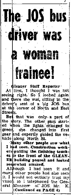 The Daily Gleaner, Saturday, July 19, 1969, pg. 1.