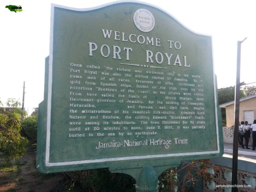 Figure 1: You are greeted with this welcome sign upon arrival to Port Royal. (Click to enlarge.)