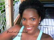 braid natural short hair