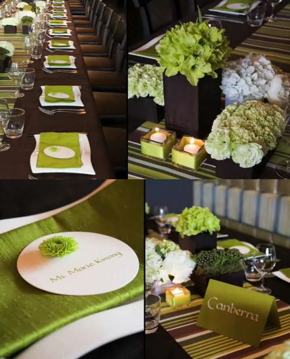 Apple Green and Chocolate Brown Colour Combo  Jamaica Weddings Blog