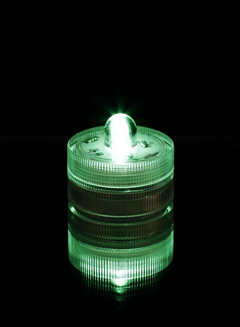 green submersible single led light set of 10