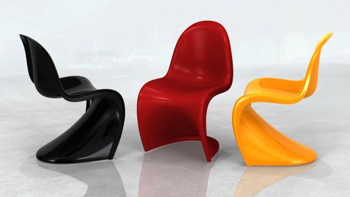 Panton Chairs Image - Industrial Design Visualisation Image
