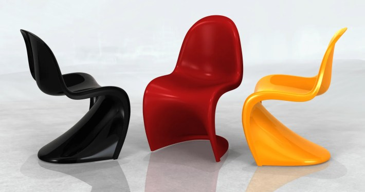 Panton Chairs Image - Industrial Design Visualisation Image