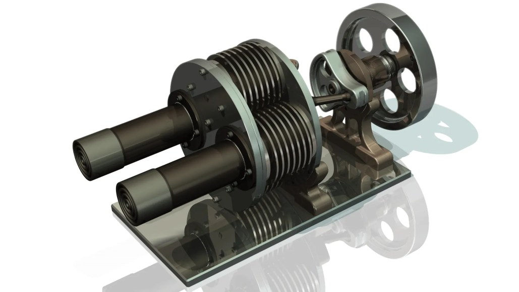 Stirling Engine - Engineering CAD Modelling Video Image - Contact Us