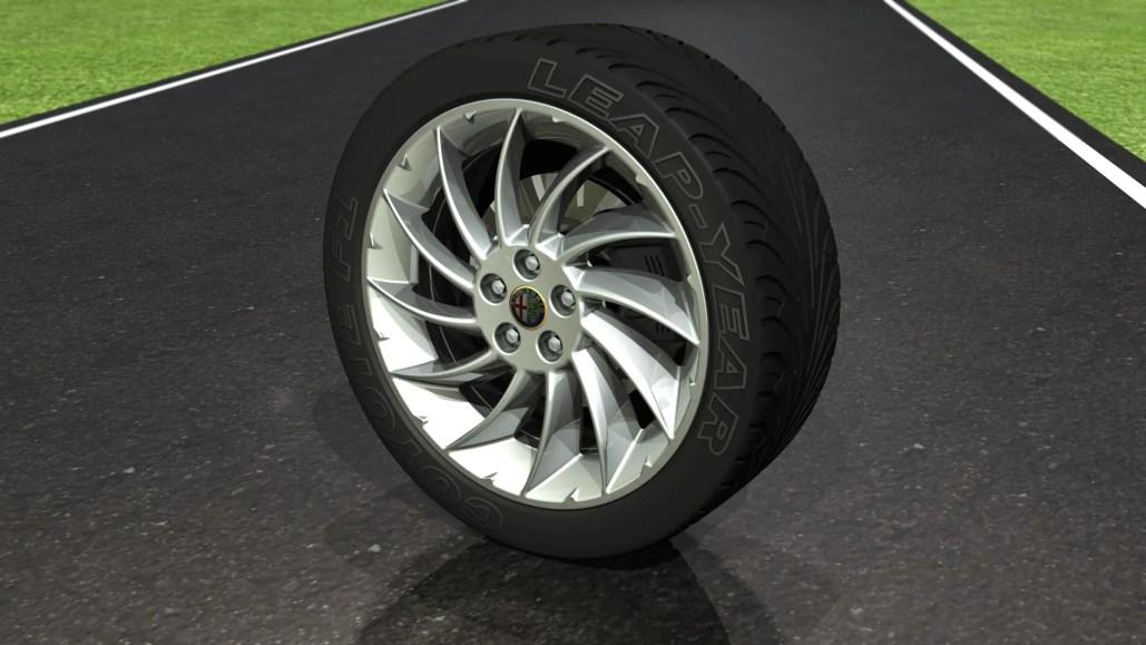 Alloy Wheel & Tyre - Automotive Images