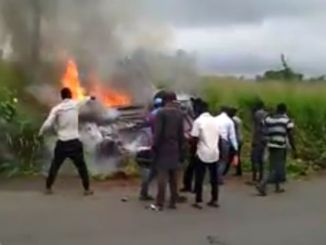 Photos Of Passengers Burnt To Death In Terrible Accident At Uli, Anambra State (Watch Video)